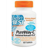 Doctor's Best, PureWay-C, Витамин С пролонгированного действия(длительное) , 60 таблеток.