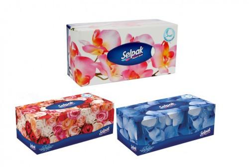 Бумажные салфетки в коробке Selpak