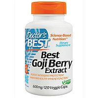 Doctor's Best, Лучший экстракт ягод Годжи, 600 мг, 120 капсул