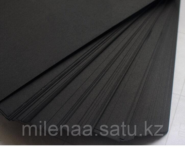 Чёрный Крафт для цветов 50 листов упаковками