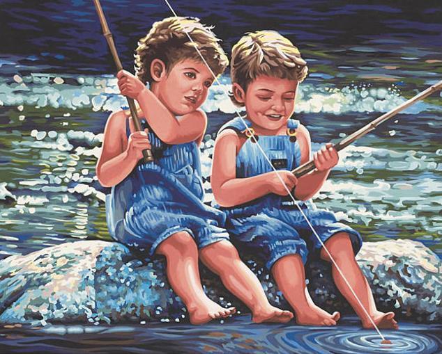 """Картины по номерам - """"Маленькие рыбаки"""""""