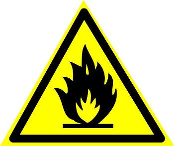 """Знак """"Пожароопасно, легковоспламеняющиеся вещества"""""""