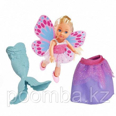 Кукла Еви русалочка с крылышками и юбочкой 12 см.