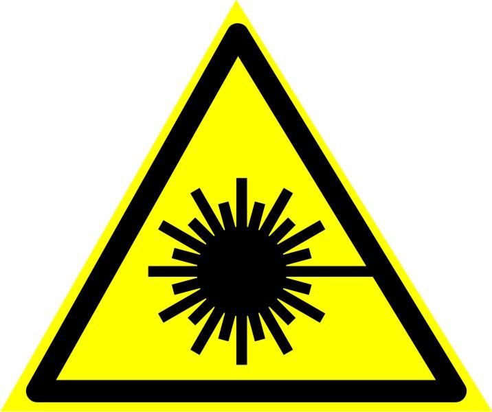 """Знак """"Опасно. Лазерное излучение"""""""