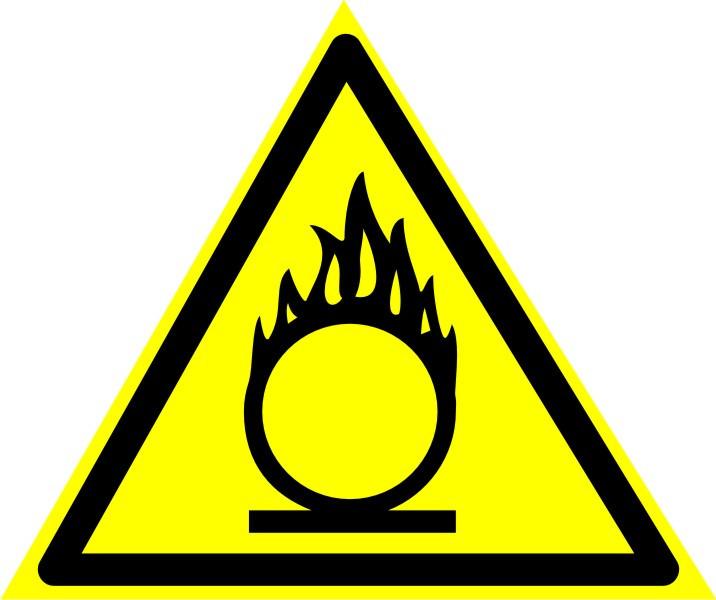 """Знак """"Пожароопасно. Окислитель"""""""