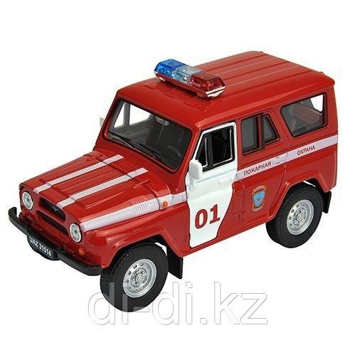 Игрушка модель машины 1:34-39 УАЗ 31514 ПОЖАРНАЯ ОХРАНА