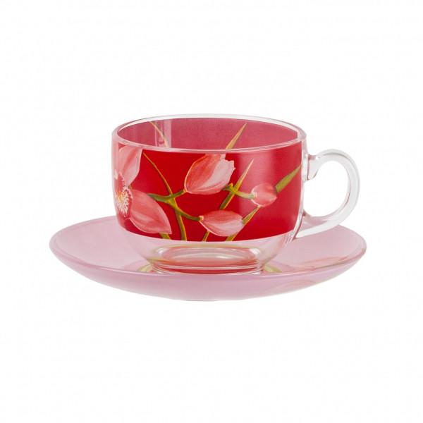 Чайный сервиз Luminarc Red Orchis на 6 персон (12 единиц) P6878