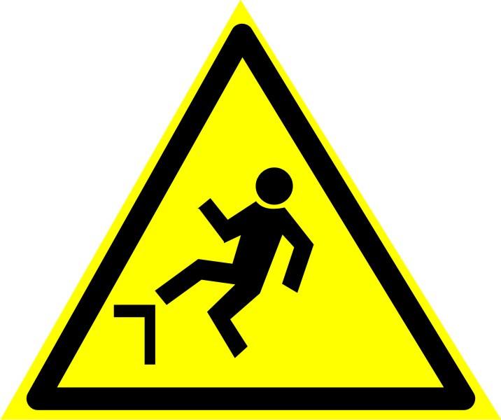 """Знак """"Осторожно. Возможность падения с высоты"""""""