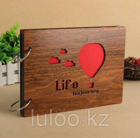 """Фотоальбом """"Life's a Journey"""", деревянный - фото 1"""