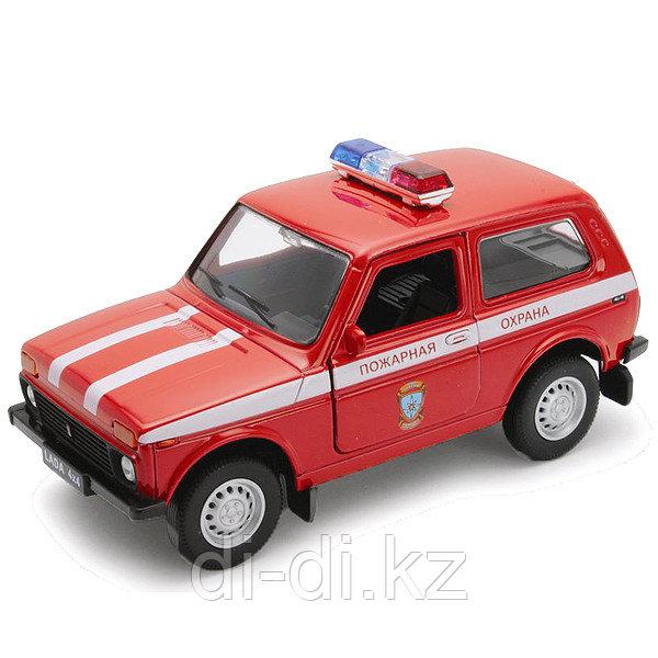 Игрушка модель машины 1:34-39 LADA 4x4 ПОЖАРНАЯ ОХРАНА