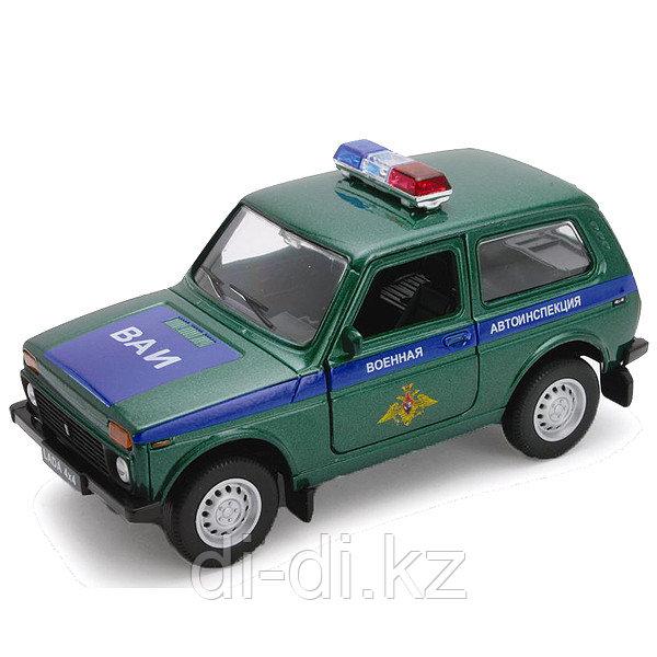Игрушка модель машины 1:34-39 LADA 4x4 ВОЕННАЯ АВТОИНСПЕКЦИЯ