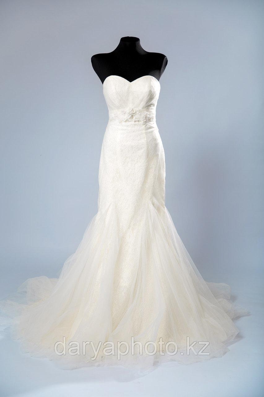 """Свадебное платье со шлейфом, силуэт """"Русалка"""""""