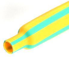 Желто-зеленые термоусадочные трубки с коэффициентом усадки 2:1 ТУТнг-ж/з-10/5 (™КВТ)