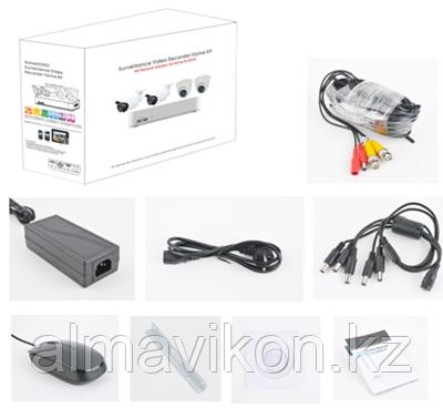 Комплект AHD видеонаблюдения на 4-камеры 1080P QIHAN (QH-D5004HHS20C-N440)