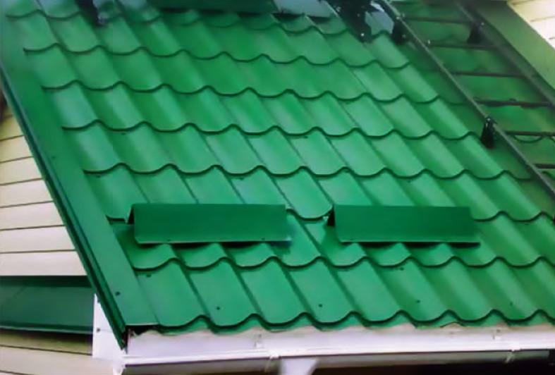 Металлочерепица зеленый Монтерей 0,45