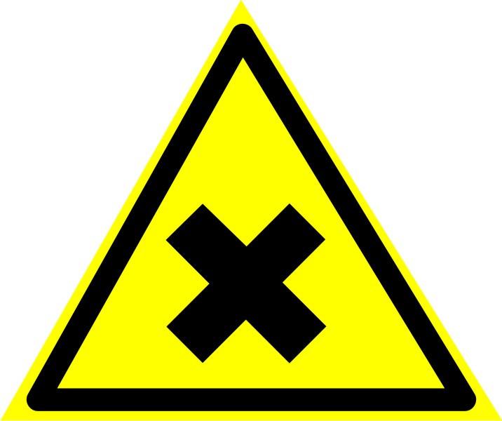 """Знак """"Осторожно. Вредные для здоровья аллергические (раздражающие) вещества"""""""