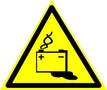"""Знак """"Осторожно. Аккумуляторные батареи"""""""