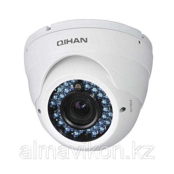Видеокамера цветная купольная AHD 720P QIHAN (QH-3406HC-X)