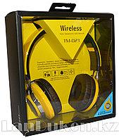 Беспроводные Стерео Bluetooth наушники с подсветкой LED TM -021(желтые)