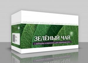 Зеленый чай с имбирем и зверобоем. При утомлении, 20ф/пак*1,5гр