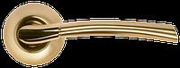 Дверная ручка Morelli MH-06 SG/GP Матовое золото/золото