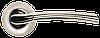 Дверная ручка Morelli MH-06 SN/CP Белый никель/хром
