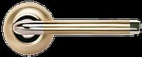 Дверная ручка Morelli MH-03 SN/CP Белый никель/хром