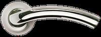 Дверная ручка Morelli MH-02 SN/CP Белый никель/Полированный хром