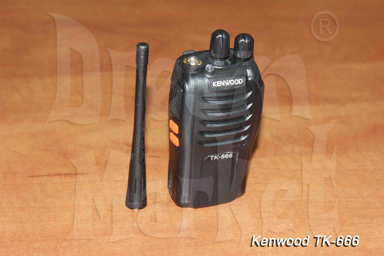 Kenwood TK-666, 400-470МГц, 16 каналов, 1500мАч, гарантия 6 месяцев
