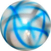 Мяч Pastorelli,18 см, вес 400 гр. синий-серебрянный-белый.