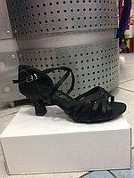 Туфли для танцев переплет черные