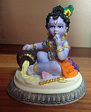 Статуэтка Кришна кушает масло, керамика