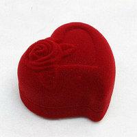 """Коробочка для кольца """"Сердце с розой"""""""