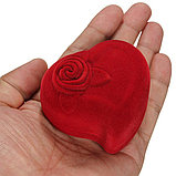 """Коробочка для кольца """"Сердце с розой"""", фото 4"""