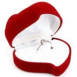 """Коробочка для кольца """"Сердце с розой"""", фото 5"""