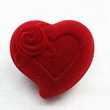 """Коробочка для кольца """"Сердце с розой"""", фото 2"""