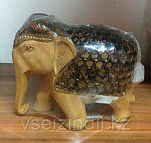 Статуэтка беременная слониха, большая двухцветная