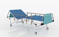 Кровать функциональная 4-х секционная (на колесах) с пневматической регулировкой секций с боковымиКФМ 04/05