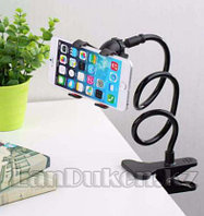 Гибкий держатель для телефонов и планшетов с зажимом (черный)