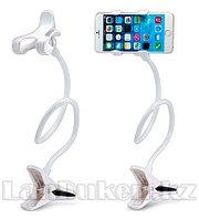 Гибкий держатель для телефонов и планшетов с зажимом (белый)