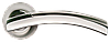 Дверная ручка Morelli MH-12 SN/CP Белый никель/хром