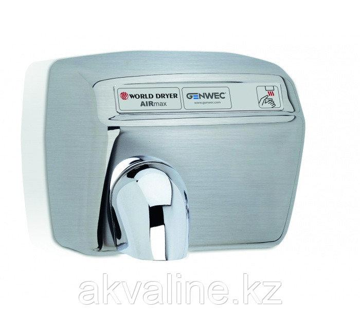 Сушилка для рук из нержавеющей стали, управление ручное с помощью кнопки, полированная  Airmax