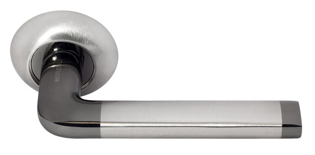 Дверная ручка Morelli DIY MH-03 SN/BN Белый никель/черный никель