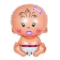 Фольгированный шар Малыш Девочка 51 см в Павлодаре, фото 1