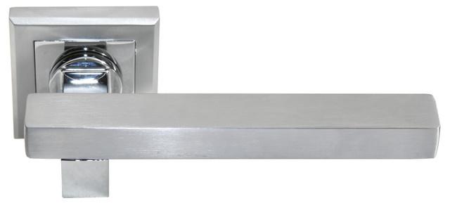 Дверная ручка Morelli MH-16 SC/CP-S Матовый хром/полированный хром