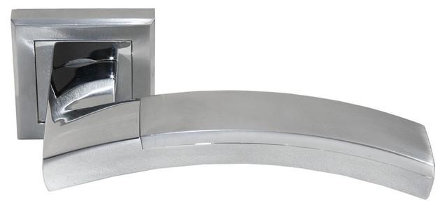 Дверная ручка Morelli MH-17 SC/CP-S Матовый хром/полированный хром
