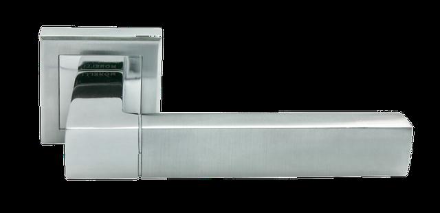 Дверная ручка Morelli MH-28 SC/CP-S Матовый хром/полированный хром