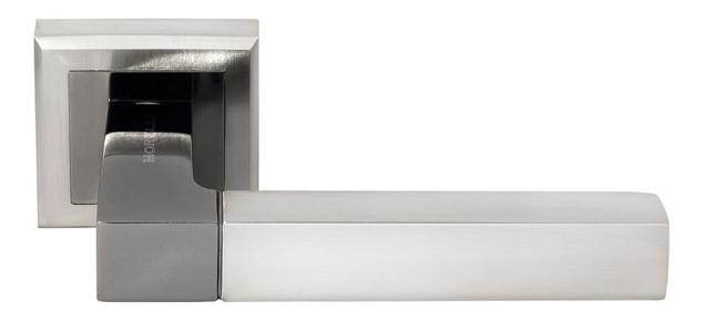 Дверная ручка Morelli DIY MH-28 SN/BN-S Белый никель/черный никель