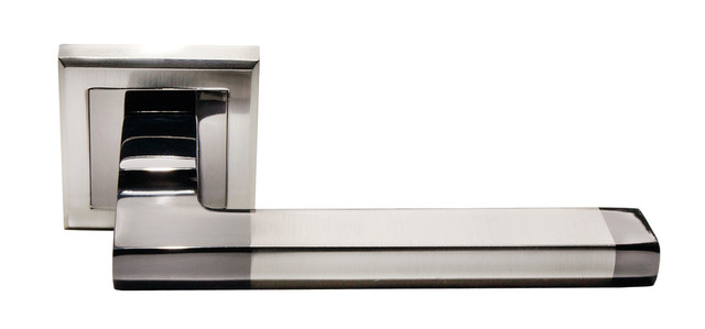 Дверная ручка Morelli DIY MH-35 SN/BN-S Белый никель/черный никель