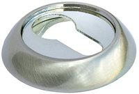 Накладка на ключевой цилиндр Morelli MH-KH SN/CP Белый никель/полированный хром, фото 1